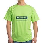 Facadebook Green T-Shirt