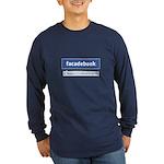 Facadebook Long Sleeve Dark T-Shirt