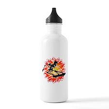 skeleton kickflip Water Bottle