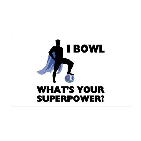 Bowling Superhero Wall Sticker