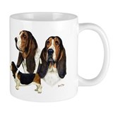 Basset hound Small Mugs (11 oz)