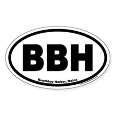 Boothbay Harbor BBH Euro Oval Decal
