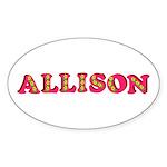 Allison Sticker (Oval 50 pk)