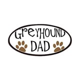 Greyhound Dad Oval Patches