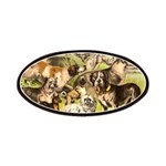 Dog Group From Antique Art Patches