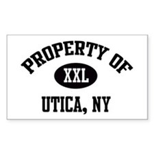 Property of Utica Rectangle Decal