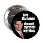 Campaign Button Against Rick Santorum