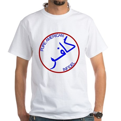 Red White Blue Pure Infidel White T-Shirt