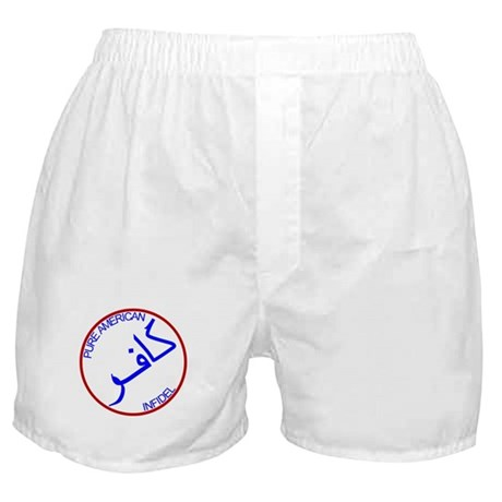 Red White Blue Pure Infidel Boxer Shorts