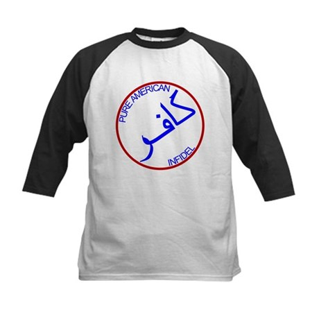 Red White Blue Pure Infidel Kids Baseball Jersey