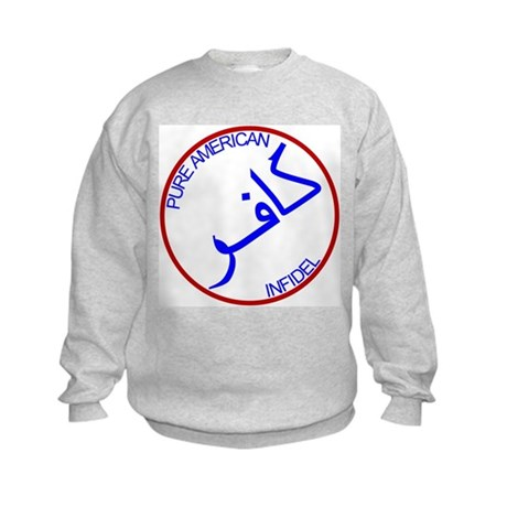 Red White Blue Pure Infidel Kids Sweatshirt