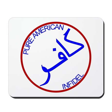 Red White Blue Pure Infidel Mousepad