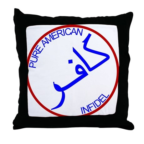 Red White Blue Pure Infidel Throw Pillow
