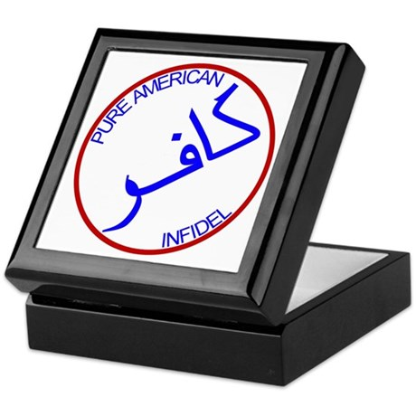 Red White Blue Pure Infidel Keepsake Box