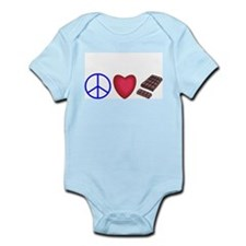 peace, love and chocolate Infant Bodysuit