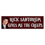 Rick Santorum Gives Me The Creeps sticker
