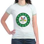 For the Irish Mason/OES Membe Jr. Ringer T-Shirt