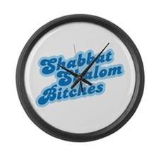 Shalom Bitches Large Wall Clock