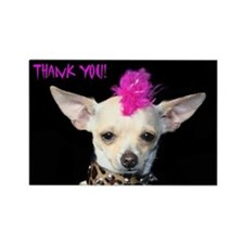 Thank You Chihuahua Punk Rectangle Magnet