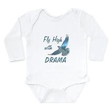 Fly with Drama Long Sleeve Infant Bodysuit