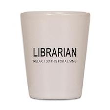 Librarian Shot Glass