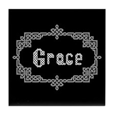 """Celtic Knots Grace"" Tile Coaster"