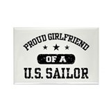 Proud Girlfriend of a US Sailor Rectangle Magnet