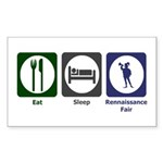 Eat - Sleep - Ren Fair Sticker (Rectangle)