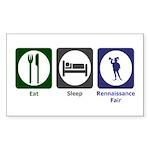 Eat - Sleep - Ren Fair Sticker (Rectangle 10 pk)