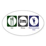 Eat - Sleep - Ren Fair Sticker (Oval 50 pk)