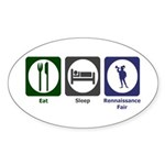 Eat - Sleep - Ren Fair Sticker (Oval 10 pk)