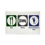 Eat - Sleep - Ren Fair Rectangle Magnet (100 pack)
