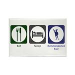 Eat - Sleep - Ren Fair Rectangle Magnet (100 pack)