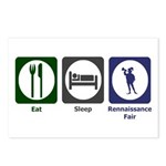 Eat - Sleep - Ren Fair Postcards (Package of 8)