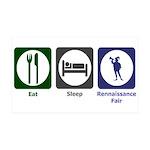 Eat - Sleep - Ren Fair 38.5 x 24.5 Wall Peel