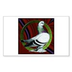 Berliner Circle Pigeon Sticker (Rectangle)