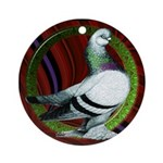 Berliner Circle Pigeon Ornament (Round)