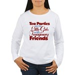 Tea Party humour Women's Long Sleeve T-Shirt