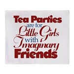 Tea Party humour Throw Blanket