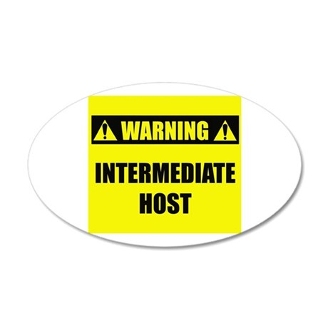 WARNING: Intermediate Host 22x14 Oval Wall Peel