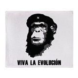 Viva La Evolution Throw Blanket