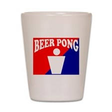 BEER PONG LOGO THE GAME OF UN Shot Glass