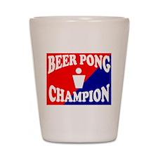 BEER PONG CHAMPION SHIRT FOR Shot Glass