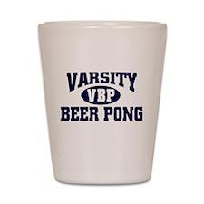 VARSITY BEER PONG FUNNY COLLE Shot Glass