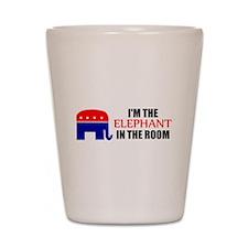 REPUBLICAN ELEPHANT SYMBOL GO Shot Glass