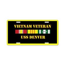 USS Denver Aluminum License Plate