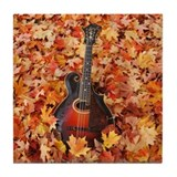 Gibson Mandola in Autumn Leaves Tile Coaster