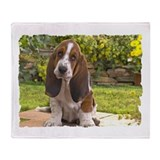 BASSET HOUND PUPPY Throw Blanket