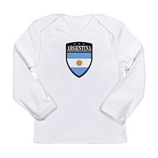 Argentina Flag Patch Long Sleeve Infant T-Shirt