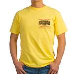 Not Born Here Yellow T-Shirt